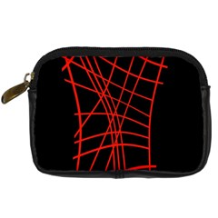 Neon red abstraction Digital Camera Cases