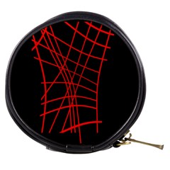 Neon red abstraction Mini Makeup Bags