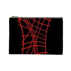 Neon red abstraction Cosmetic Bag (Large)