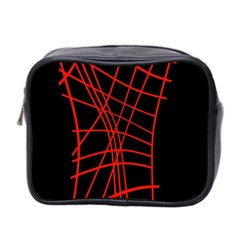 Neon red abstraction Mini Toiletries Bag 2-Side