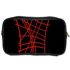 Neon red abstraction Toiletries Bags