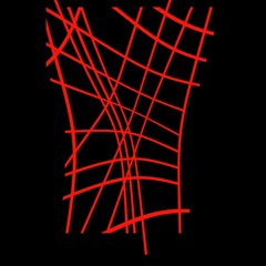 Neon red abstraction Magic Photo Cubes