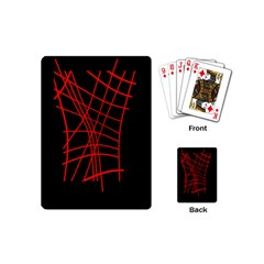Neon red abstraction Playing Cards (Mini)