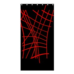 Neon red abstraction Shower Curtain 36  x 72  (Stall)