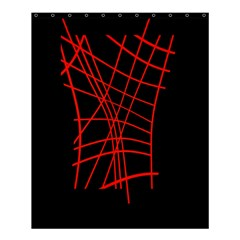 Neon red abstraction Shower Curtain 60  x 72  (Medium)