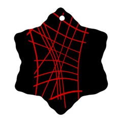 Neon red abstraction Ornament (Snowflake)