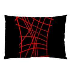 Neon red abstraction Pillow Case (Two Sides)