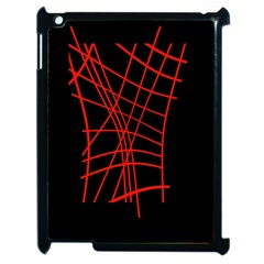 Neon red abstraction Apple iPad 2 Case (Black)
