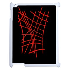 Neon red abstraction Apple iPad 2 Case (White)