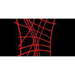 Neon red abstraction YOU ARE INVITED 3D Greeting Card (8x4)