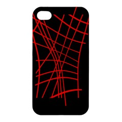 Neon red abstraction Apple iPhone 4/4S Hardshell Case