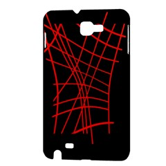 Neon red abstraction Samsung Galaxy Note 1 Hardshell Case