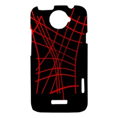Neon red abstraction HTC One X Hardshell Case