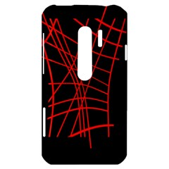 Neon red abstraction HTC Evo 3D Hardshell Case