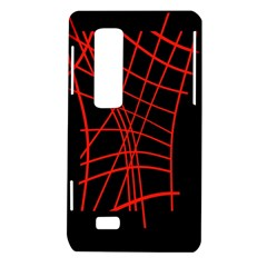 Neon red abstraction LG Optimus Thrill 4G P925