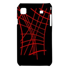 Neon red abstraction Samsung Galaxy S i9008 Hardshell Case