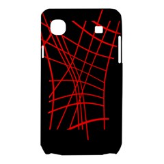Neon red abstraction Samsung Galaxy SL i9003 Hardshell Case