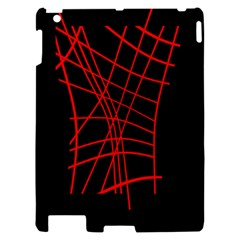 Neon red abstraction Apple iPad 2 Hardshell Case
