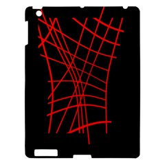 Neon red abstraction Apple iPad 3/4 Hardshell Case