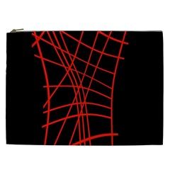 Neon red abstraction Cosmetic Bag (XXL)