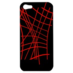 Neon red abstraction Apple iPhone 5 Hardshell Case