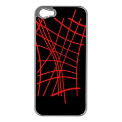 Neon red abstraction Apple iPhone 5 Case (Silver)