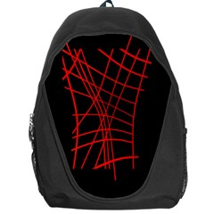 Neon red abstraction Backpack Bag