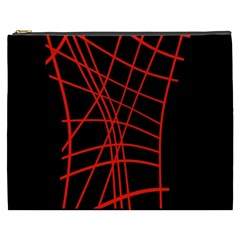 Neon red abstraction Cosmetic Bag (XXXL)