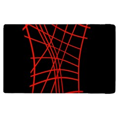 Neon red abstraction Apple iPad 3/4 Flip Case