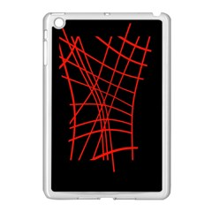 Neon red abstraction Apple iPad Mini Case (White)