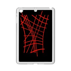 Neon red abstraction iPad Mini 2 Enamel Coated Cases