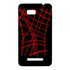 Neon red abstraction HTC One SU T528W Hardshell Case