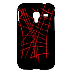 Neon red abstraction Samsung Galaxy Ace Plus S7500 Hardshell Case