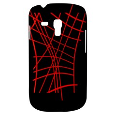 Neon red abstraction Samsung Galaxy S3 MINI I8190 Hardshell Case