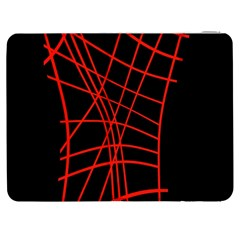 Neon red abstraction Samsung Galaxy Tab 7  P1000 Flip Case
