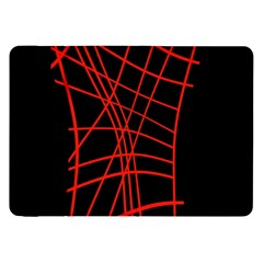 Neon red abstraction Samsung Galaxy Tab 8.9  P7300 Flip Case