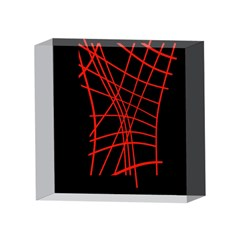 Neon red abstraction 4 x 4  Acrylic Photo Blocks