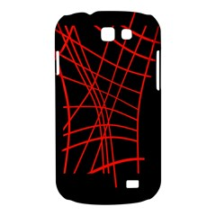 Neon red abstraction Samsung Galaxy Express I8730 Hardshell Case