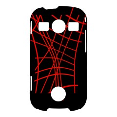 Neon red abstraction Samsung Galaxy S7710 Xcover 2 Hardshell Case