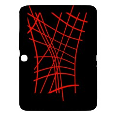 Neon red abstraction Samsung Galaxy Tab 3 (10.1 ) P5200 Hardshell Case