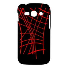 Neon red abstraction Samsung Galaxy Ace 3 S7272 Hardshell Case