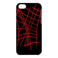 Neon red abstraction Apple iPhone 5C Hardshell Case