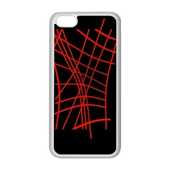 Neon red abstraction Apple iPhone 5C Seamless Case (White)