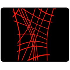 Neon red abstraction Double Sided Fleece Blanket (Medium)
