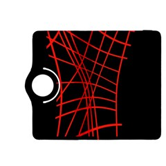 Neon red abstraction Kindle Fire HDX 8.9  Flip 360 Case