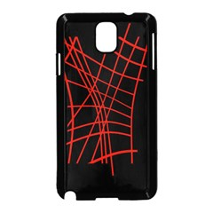 Neon red abstraction Samsung Galaxy Note 3 Neo Hardshell Case (Black)