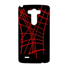 Neon red abstraction LG G3 Hardshell Case
