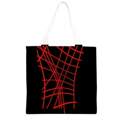 Neon red abstraction Grocery Light Tote Bag