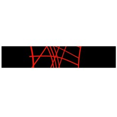 Neon red abstraction Flano Scarf (Large)