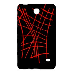 Neon red abstraction Samsung Galaxy Tab 4 (7 ) Hardshell Case